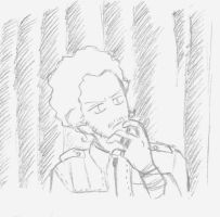 Chris'Doodle_Thinking by RobicTheEscapist