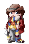 Chibi 4th Doctor by TwinEnigma