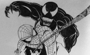spiderman and venom by Black-Velvet-89