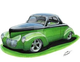 1940 Willys Coupe by Classic-Art-by-JP