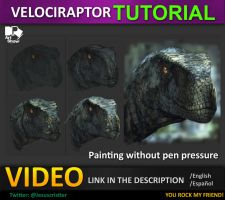 painting a velociraptor by JesusAConde