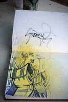 yelow and blue by szc