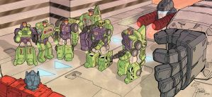 Confrontation with the Constructicons (colour) by J-Rayner