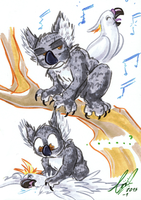 Koala + Cockatoo doodlies by carnival