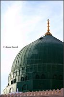 The Green Dome - AL Quba - by laluzdelislam
