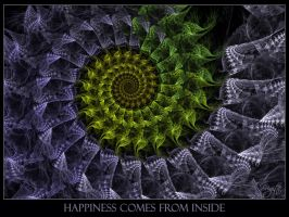 Happiness Comes From Inside by Brigitte-Fredensborg
