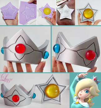 PROGRESS: Rosalina's Crown and Brooch by LayzeMichelle
