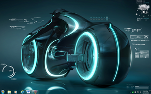 TRON Rainmeter by kradon86