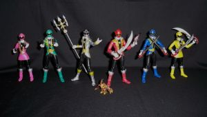SH Figuarts Gokaiger Team 1 by LinearRanger