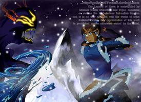 Korra and the Dark Spirit by Galistar07water
