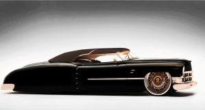 1950 Cadillac Dark Brown Roadster+convertible Byra by raymondpicasso