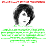 Calling All Art Contest Prize Donors by kwikdraw