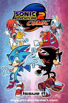 SA2 COMIC Issue 1 Cover by Ziggyfin