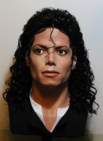 lifesize Michael Jackson Bad era bust (new wig) by godaiking