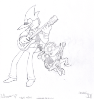 (Redo) Mordecai and the Rigbys by SketchedJDII