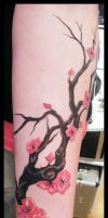 JAPANESE CHERRY  BLOSSOMS by TATTOOEDSLUT666