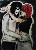 Tia x Jeff the killer by catanddogs101