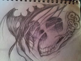 Skull sketch by spratsanime
