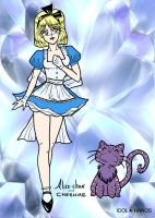 alice in the looking glass by Blackmoonrose13