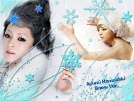 Wallpaper Ayu Snow Ver. by RainboWxMikA