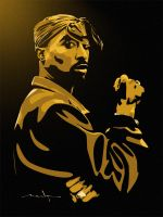Tupac Vector by meak-one