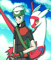 Brenden And Latias by Tuooneo