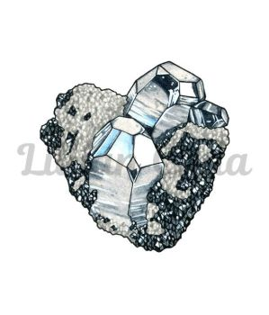 Hematite Crystal Cluster by witchhboy