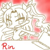 Fate/Stay in the Laptop - Rin by Flourite-Applewhite