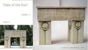 Gate of the Kiss Papercraft by svanced 1 +DOWNLOAD by svanced