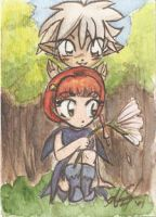 Chloe and Thalo card by AmberStoneArt