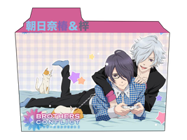 Brothers Conflict: Asahina Twins Folder Icon by amaisymphony