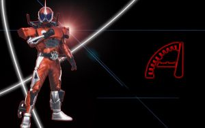 Kamen Rider Accel Wall by blakehunter