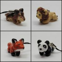 Wild Animal Cellphone Charms by LeiliaK