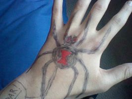 spider hand sharpie yay by Burnzy69