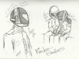 Daft Punk- More Random Doodle5 by Lenore619-Void