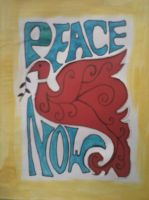 Peace now_cut out on red by andrea-gould