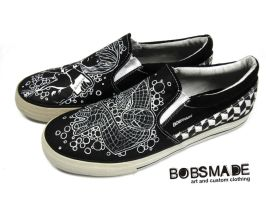 spiderman+death note - shoes by Bobsmade