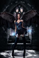 Young Fallen Angel by vaniapaiva