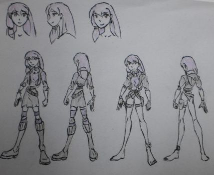 Kylie Ginxem, human attire and Pack Uniform by StoneMan85