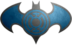 Batman Blue Lantern Metalic Logo by KalEl7