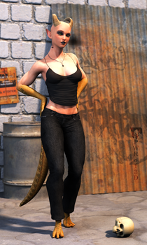 New Character: Yalli by PWRof3D