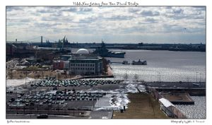 USS New Jersey from Ben Frank by yellowcaseartist