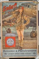Propaganda Pinups - Become a Paratrooper! by warbirdphotographer