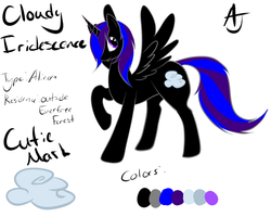 Cloudy Iridescence - OC Pony Ref by TheShadowsReturn