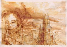 Church and a girl by svartek