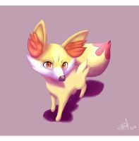Let's draw Fennekin! (+speedpaint) by RoxiBeFox