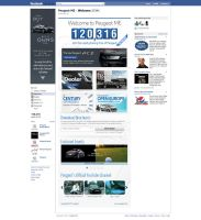 Peugeot Facebook Welcome Tab by da8esix