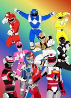 MMPR and VR Troopers by LavenderRanger