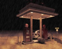 Old gas station by masin