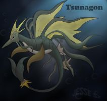 Tsunagon: Kingdra's Evo by DarkLatios777